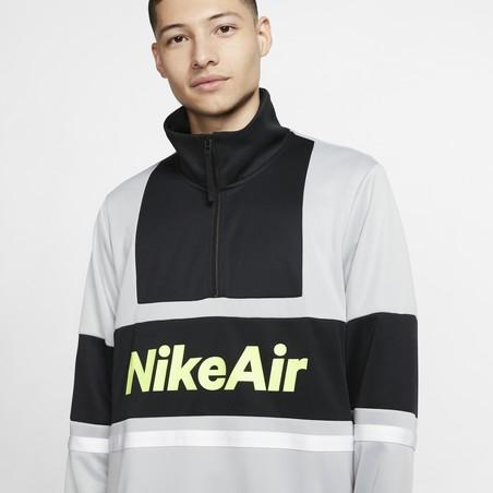 Sweat zippé Nike Air gris jaune