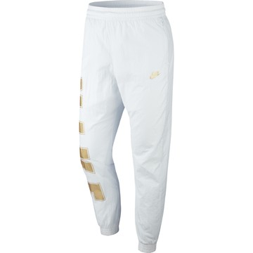 Pantalon survêtement Nike Air Woven blanc or