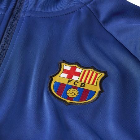 Veste survêtement FC Barcelone I96 Anthem bleu 2020/21