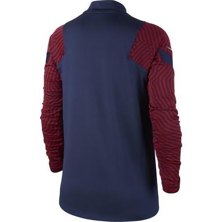 Sweat zippé junior PSG bleu rouge 2020/21