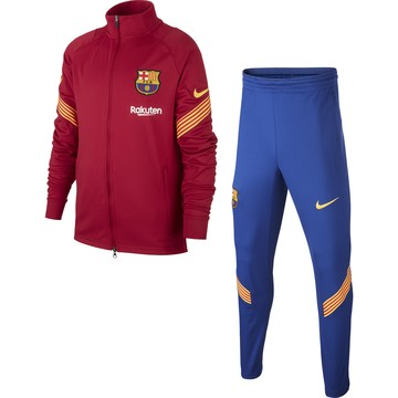 Ensemble survêtement junior FC Barcelone rouge 2020/21