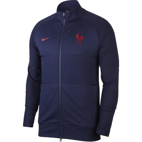 Veste survêtement Equipe de France Anthem Strike bleu 2020