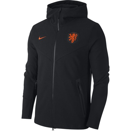 Veste survêtement Pays Bas Tech Fleece noir orange 2020