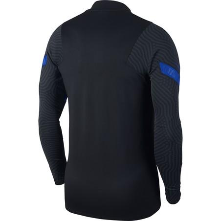 Sweat zippé Pays Bas noir bleu 2020