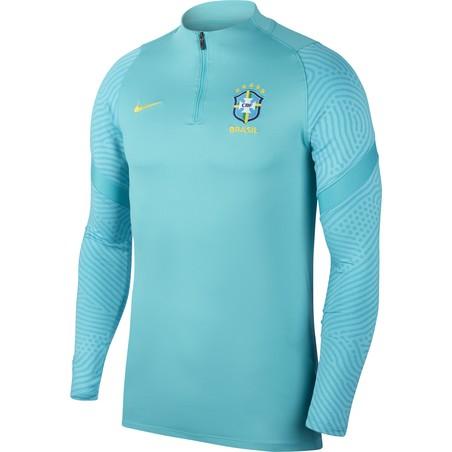 Sweat zippé Brésil bleu ciel 2020