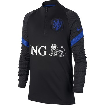 Sweat zippé junior Pays Bas noir bleu 2020
