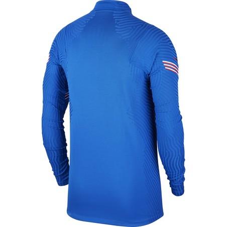 Sweat zippé Angleterre VaporKnit bleu 2020