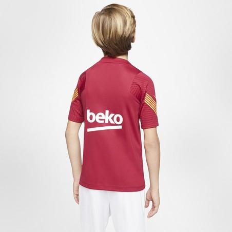 Maillot entraînement junior FC Barcelone rouge 2020/21