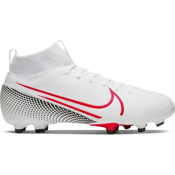 Mercurial Superfly VII junior Academy FG/MG blanc rouge
