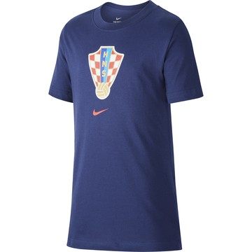 T-shirt junior Croatie bleu 2020