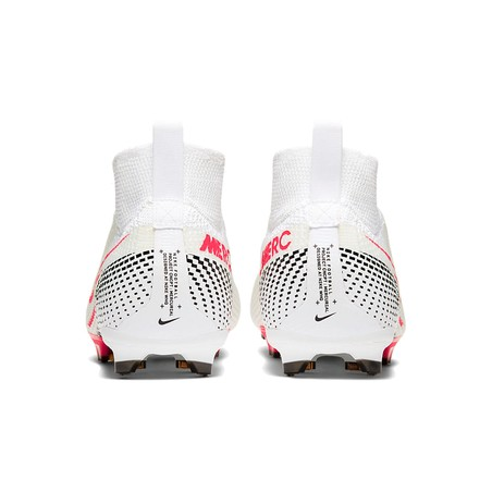 Mercurial Superfly VII junior Elite FG blanc rouge