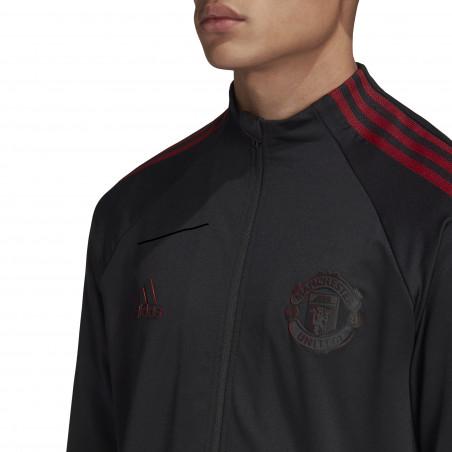 Veste survêtement Manchester United Anthem noir 2020/21