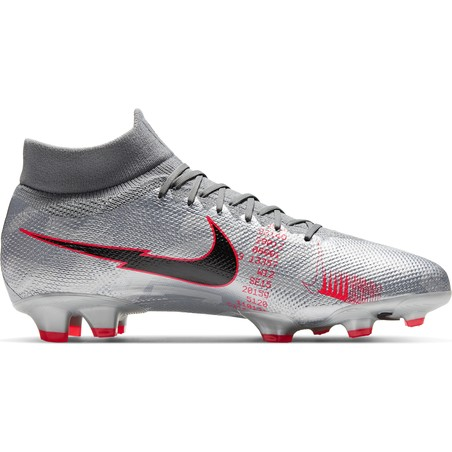 Nike Mercurial Superfly VII Pro FG gris rouge