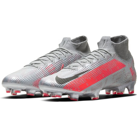 Nike Mercurial Superfly VII Elite FG gris rouge