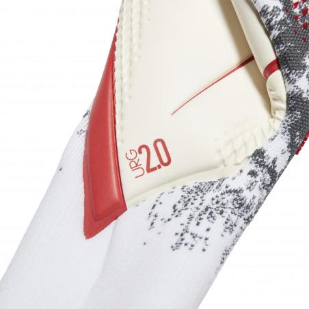 Gants gardien adidas Predator Pro gris rouge