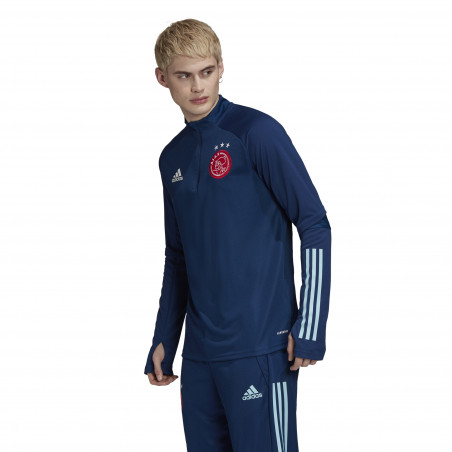 Sweat zippé Ajax Amsterdam bleu 2020/21