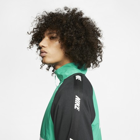 Sweat zippé Nike Sportswear Hybrid vert noir 2020/21