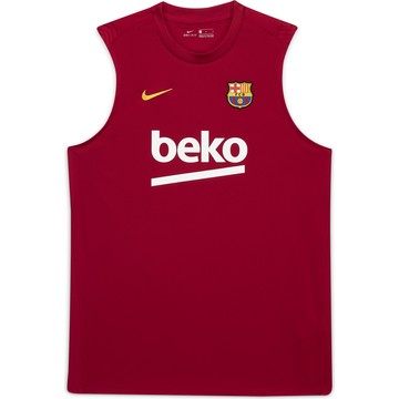 Maillot entraînement sans manches FC Barcelone rouge 2020/21