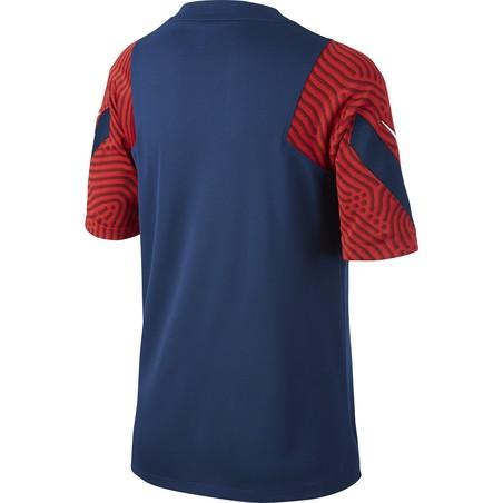 Maillot entraînement junior PSG bleu rouge 2020/21