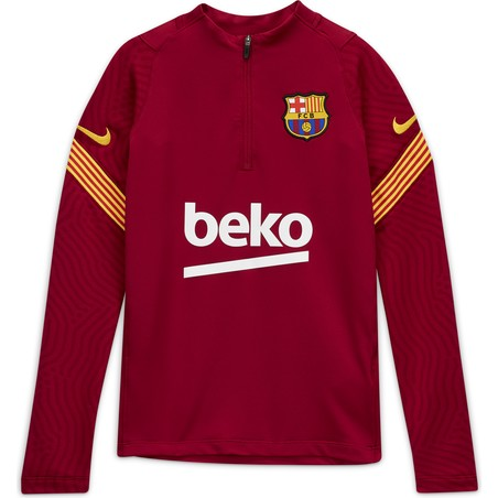 Sweat zippé junior FC Barcelone rouge 2020/21