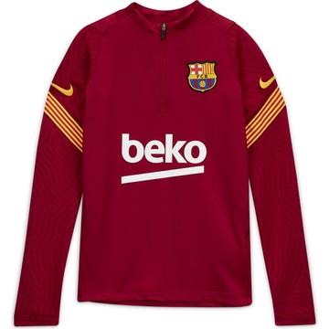 Sweat zippé junior FC Barcelone rouge 2020/21