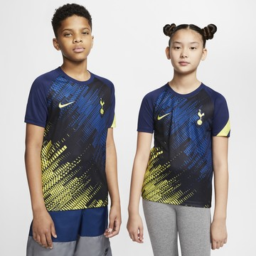 Maillot avant match junior Tottenham graphic bleu 2020/21