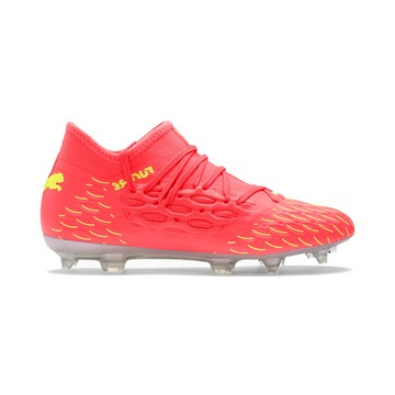 Puma Future 5.3 junior Netfit FG jaune rose