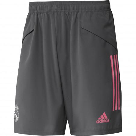 Short entraînement Real Madrid micro fibre gris rose 2020/21