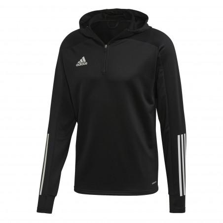Sweat zippé entraînement adidas noir