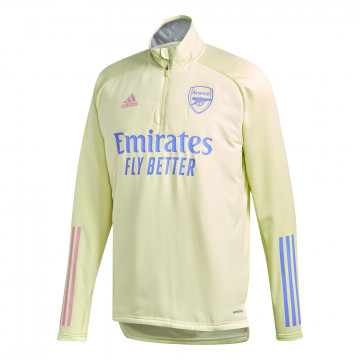 Sweat col montant Arsenal jaune 2020/21