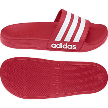 Sandales ADILETTE rouge blanc