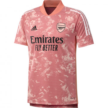 Maillot avant match Arsenal Europe rose 2020/21