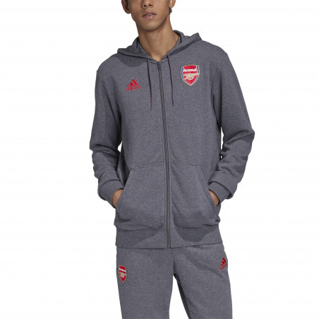 Veste survêtement Arsenal FZ HD gris rouge 2020/21