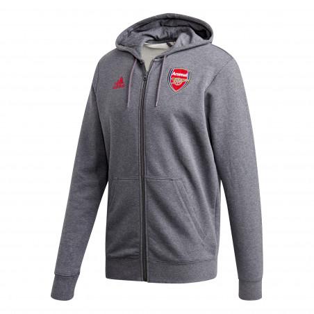Veste survêtement Arsenal FZ HD gris rouge 2020/21