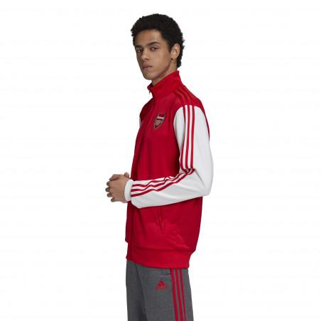 Veste survêtement Arsenal 3S rouge blanc 2020/21
