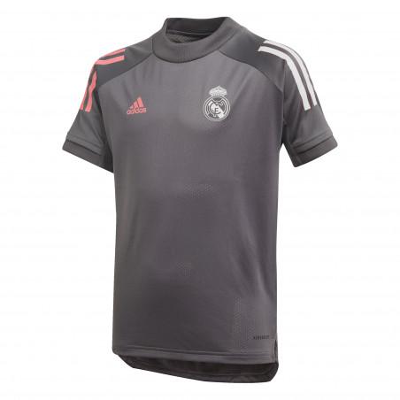 Maillot entraînement junior Real Madrid gris rose 2020/21