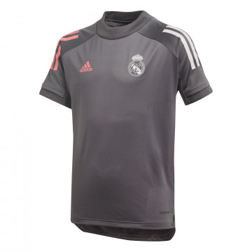 Maillot entraînement junior Real Madrid gris rose 2020/21