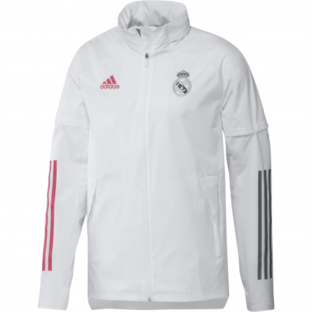 Veste imperméable Real Madrid blanc 2020/21