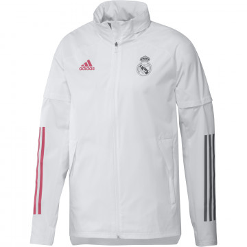 Veste imperméable Real Madrid blanc 2020/21