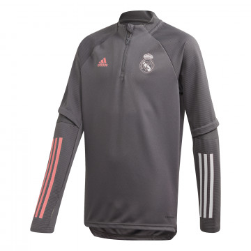 Sweat zippé junior Real Madrid gris rose 2020/21