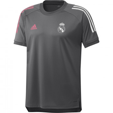Maillot entraînement Real Madrid gris rose 2020/21