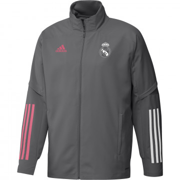 Veste entraînement Real Madrid gris rose 2020/21