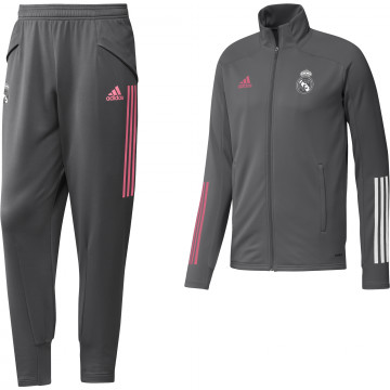 Ensemble survêtement Real Madrid gris rose 2020/21