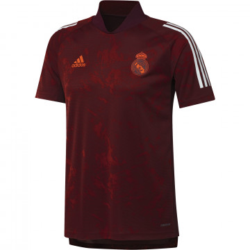Maillot entraînement Real Madrid Europe rouge 2020/21
