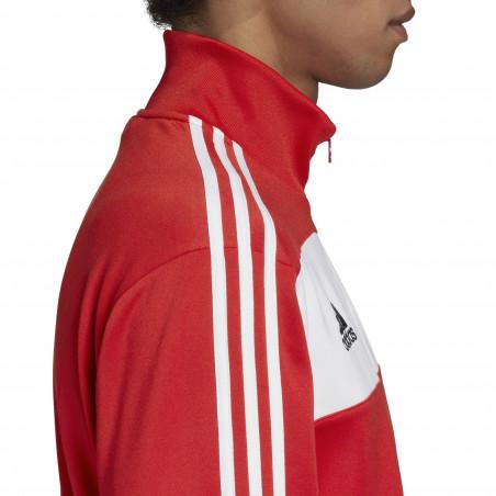 Veste survêtement Manchester United rouge blanc 2020/21