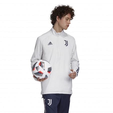 Sweat zippé col montant Juventus blanc 2020/21