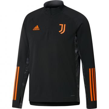 Sweat zippé col montant Juventus noir orange 2020/21