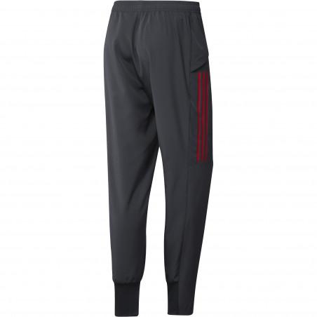 Pantalon entraînement Bayern Munich Europe gris rouge 2020/21