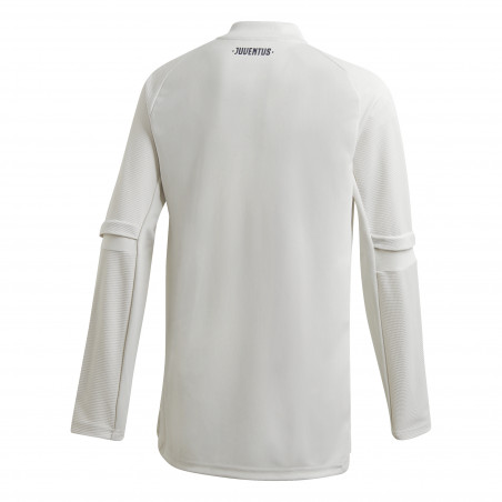 Sweat zippé junior Juventus blanc 2020/21