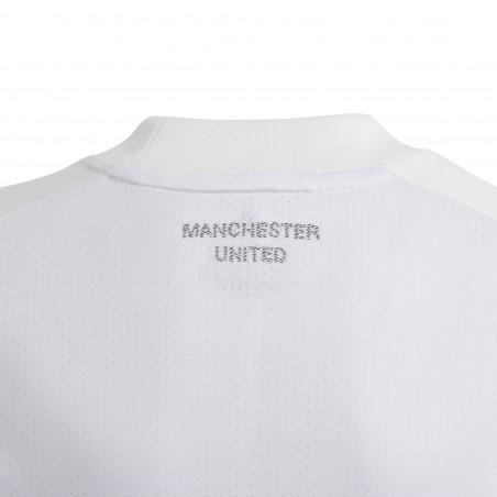 Maillot entraînement junior Manchester United blanc orange 2020/21